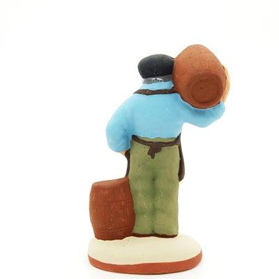 santon de provence peint à la main tonnelier dos