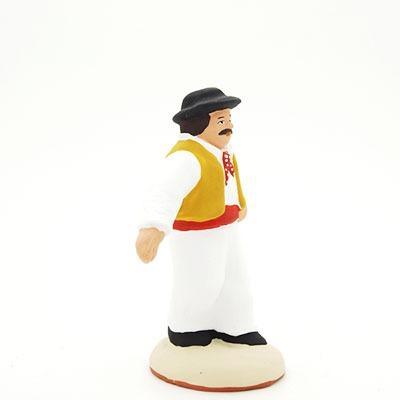 danseur santon de provence peint main profil