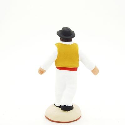 danseur santon de provence peint main dos