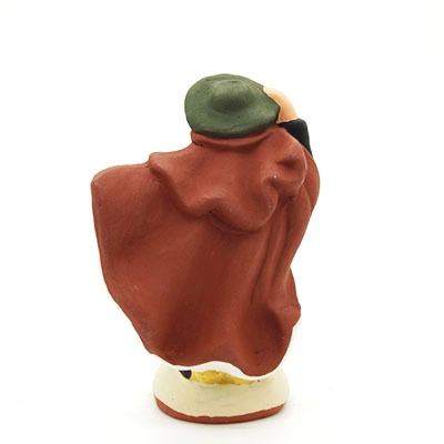 Le berger dans le vent santon de provence peint à la main dos