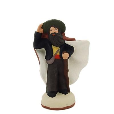 Le berger dans le vent santon de provence peint à la main