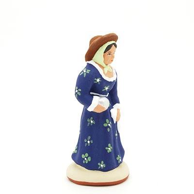 santon peint à la main femme bouliste profil