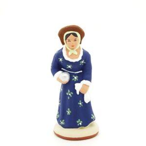 santon peint à la main femme bouliste