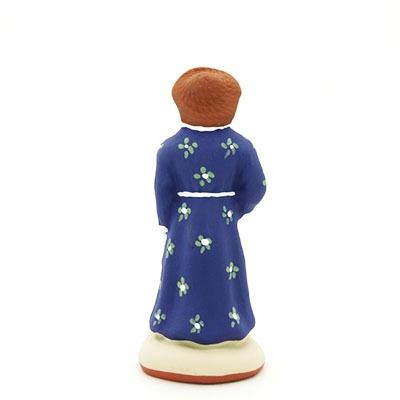 santon peint à la main femme bouliste dos