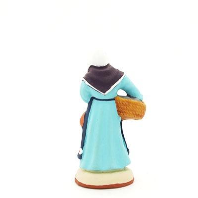 santon de provence peint à la main Poissonnière dos