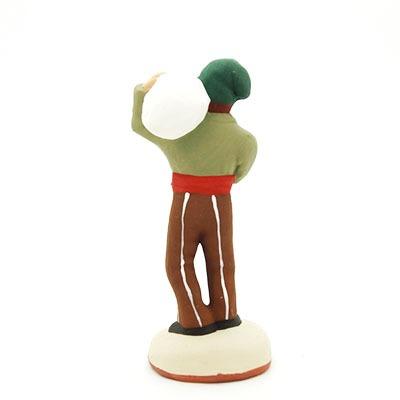santon de provence peint à la main meunier sac à l'épaule dos