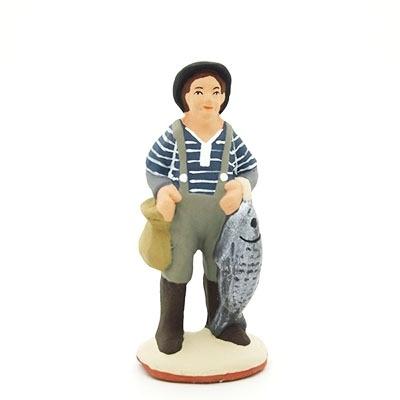 Le pêcheur debout poisson