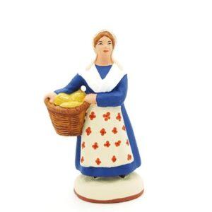 santon de provence peint mains la boulangere