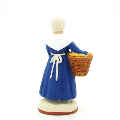 santon de provence peint mains la boulangere dos