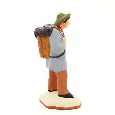 santon de provence peint à la main vendangeur profil