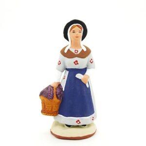 santon de provence peint à la main vengangeuse