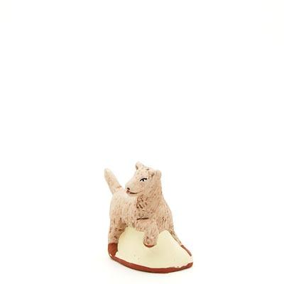 santon de Provence peint à la main chien