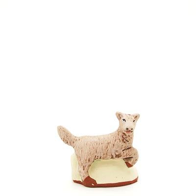 santon de Provence peint à la main chien profil