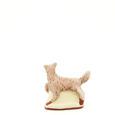 santon de Provence peint à la main chien dos