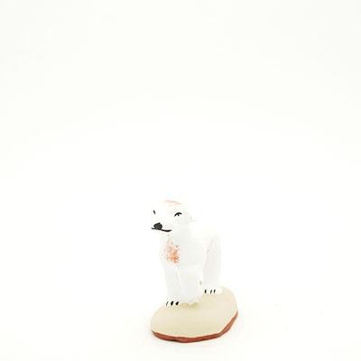 santon de Provence peint à la main chien pato face