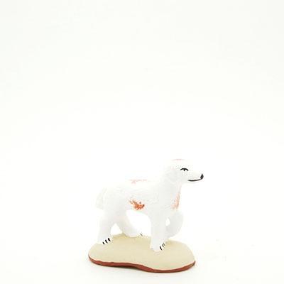 santon de Provence peint à la main chien pato