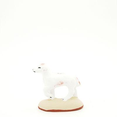 santon de Provence peint à la main chien pato profil