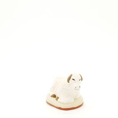 mouton couché mou santon de Provence peint à la main