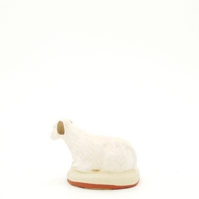 mouton couché mou santon de Provence peint à la main dos