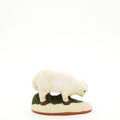 santon de Provence mouton qui broute peint à la main dos