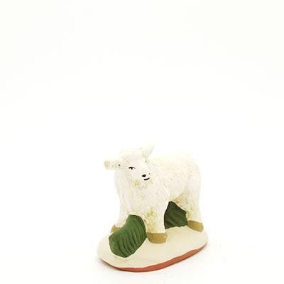 santon de provence peint mains mouton debout face