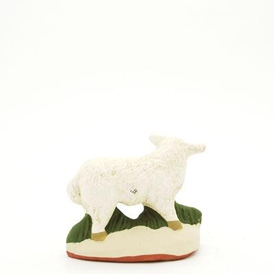 santon de provence peint mains mouton debout dos