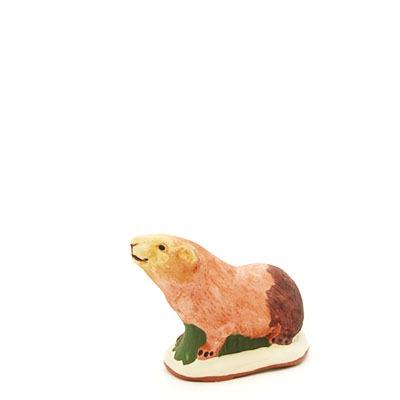 santon de Provence marmotte peint à la main profil 2