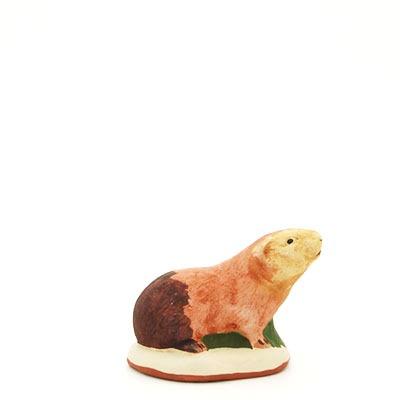 santon de Provence marmotte peint à la main profil