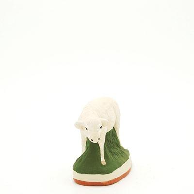 santon de Provence peint à la main mouton debout
