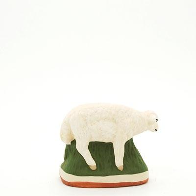 santon de Provence peint à la main mouton debout dos