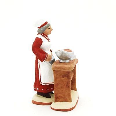 santon de provence peint à la main chocolatière profil