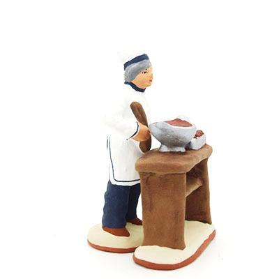 chocolatier santon de provence peint à la main profil