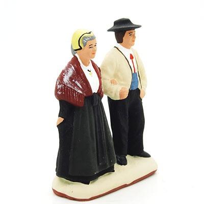 santon de provence peint à la main les savoyards profil