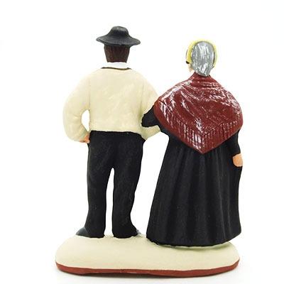 santon de provence peint à la main les savoyards dos