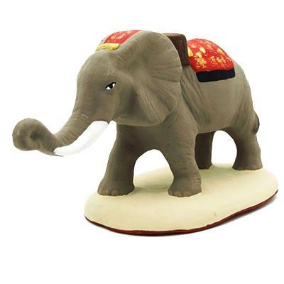 santon peint main éléphant face