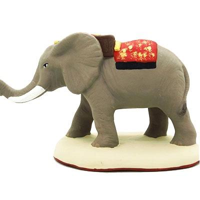 santon peint main éléphant proofil