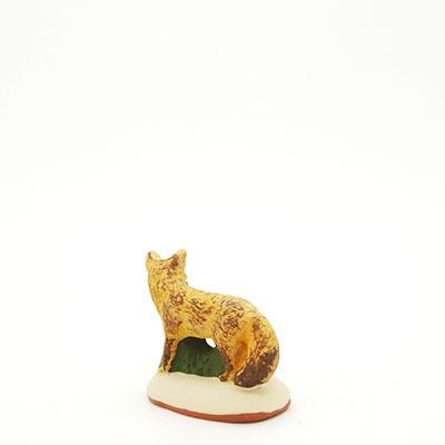 santon de Provence peint à la main renard dos