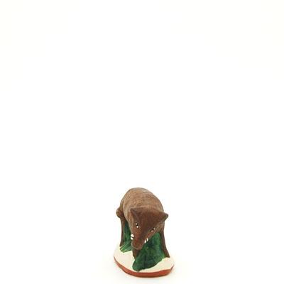 santon de provence peint a la main sanglier 2 face