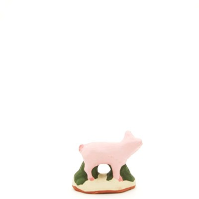 santon de provence peint a la main cochon dos