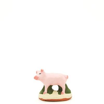 santon de provence peint a la main cochon profil