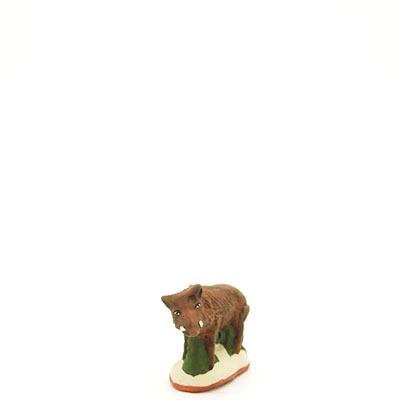 santon de provence peint a la main marcassin 2 face