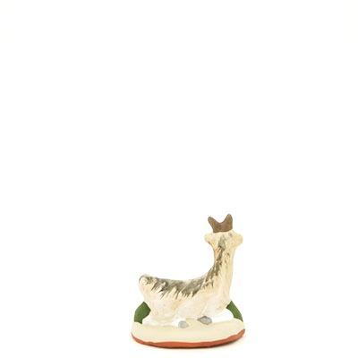 santon de provence biquette couchee peinte a la main dos