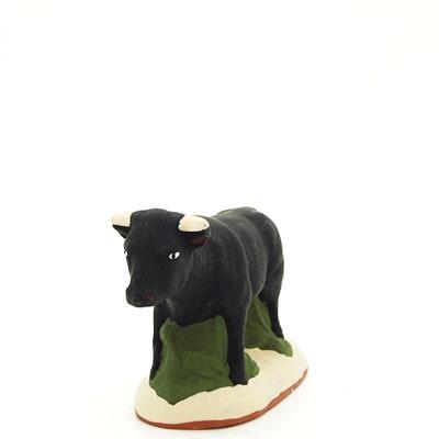 santon de provence peint a la main taureau