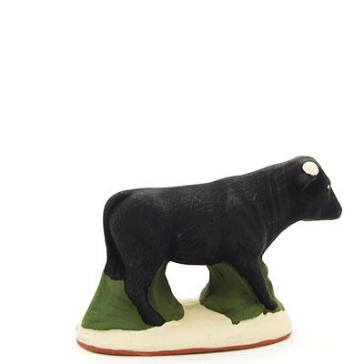 santon de provence peint a la main taureau dos