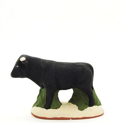 santon de provence peint a la main taureau profil