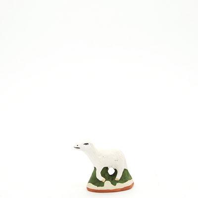 santon de provence peint a la main mouton debout