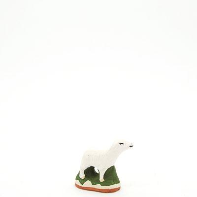 santon de provence peint a la main mouton debout profil