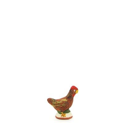 santon de provence poule peinte a la main profil