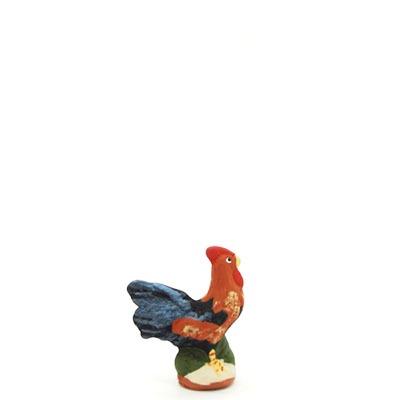 santon de provence peint a la main le coq profil