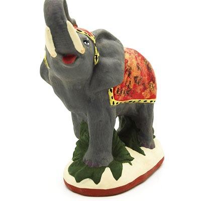 santon de provence peint a la main elephant face
